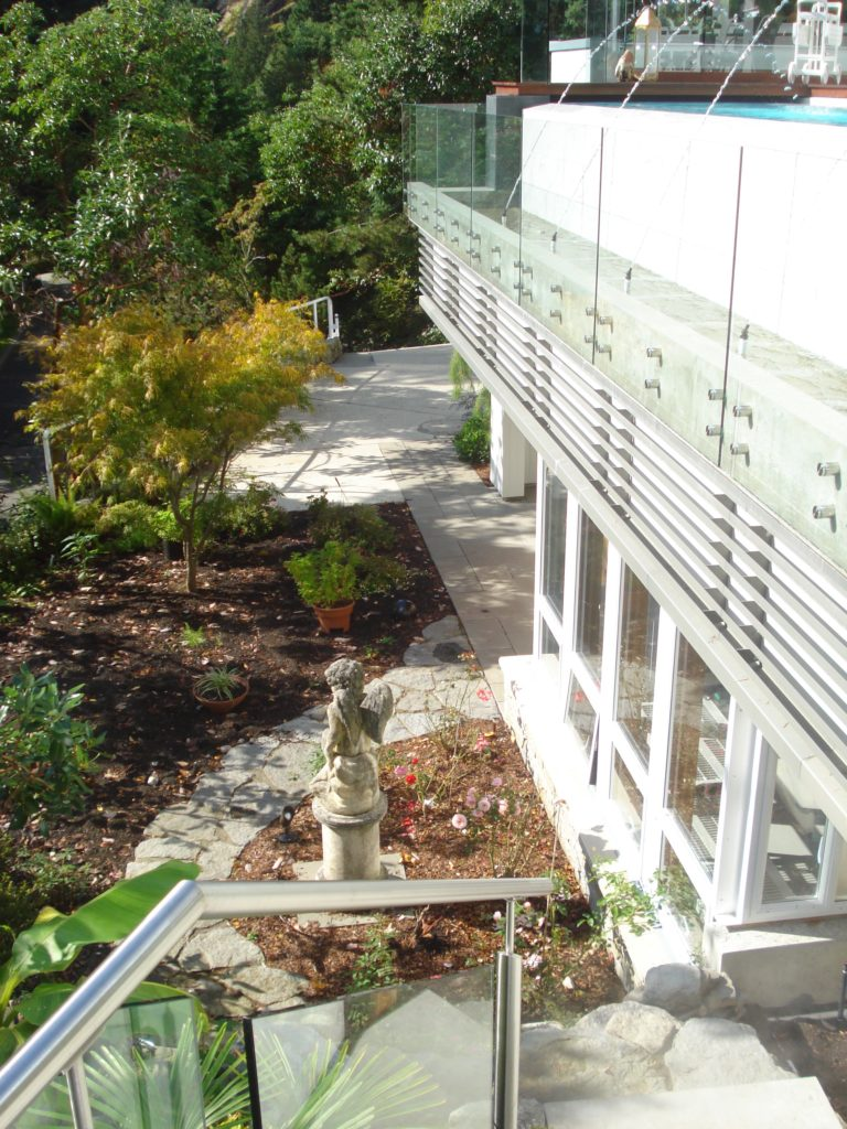 Looking towards greenhouse